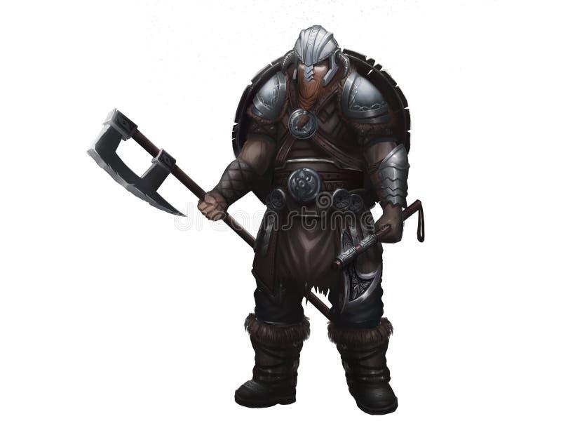 Fantas?a Viking n?rdico Dise?o de car?cter del guerrero libre illustration