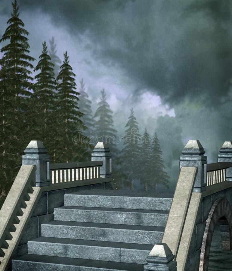 fantasi för 2 bro royaltyfri illustrationer
