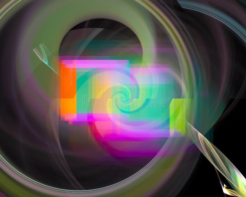 Fantasi för mall för krullning för abstrakt för fractalfantasigarnering för beståndsdel bakgrund för form grafisk, dekorativ fram royaltyfri illustrationer