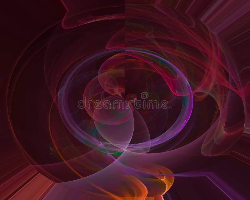 Fantasi för mall för krullning för abstrakt för vågflöde för fractal dynamisk bakgrund för elegans vibrerande grafisk, framtid, k vektor illustrationer
