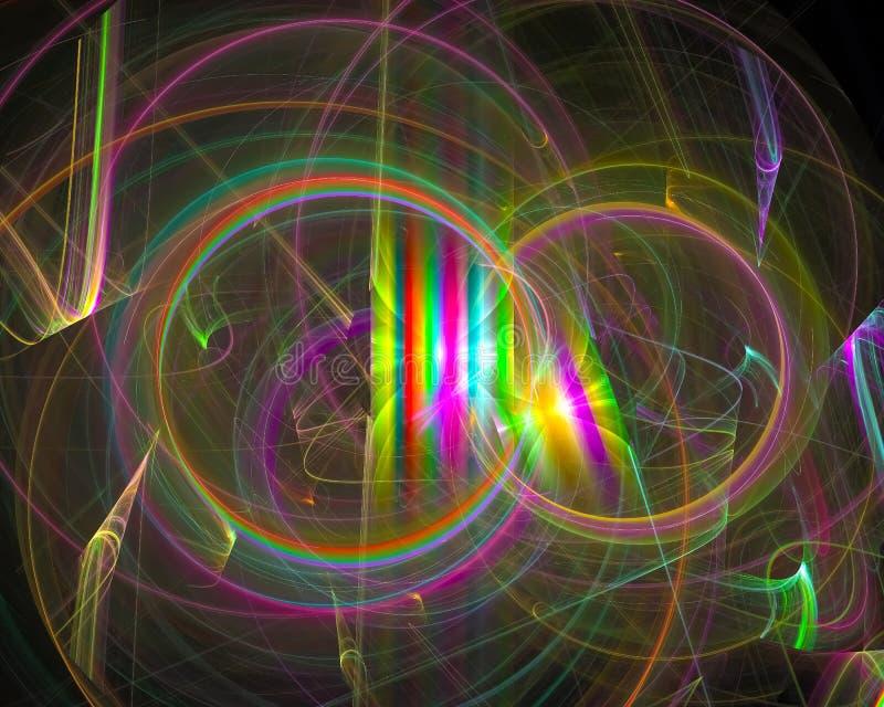 Fantasi för mall för krullning för prydnad för abstrakt fractalfantasi som färgrik grafisk är dekorativ, kort vektor illustrationer