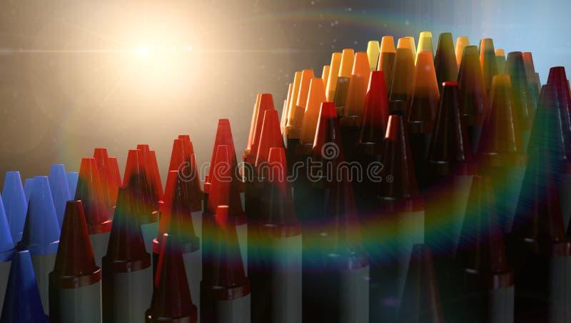 Fantasi för vaxfärgpennor royaltyfri foto