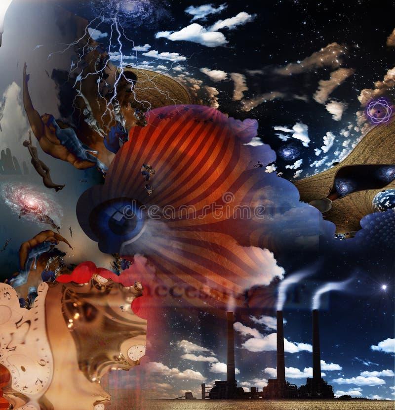 fantasi ii royaltyfri illustrationer