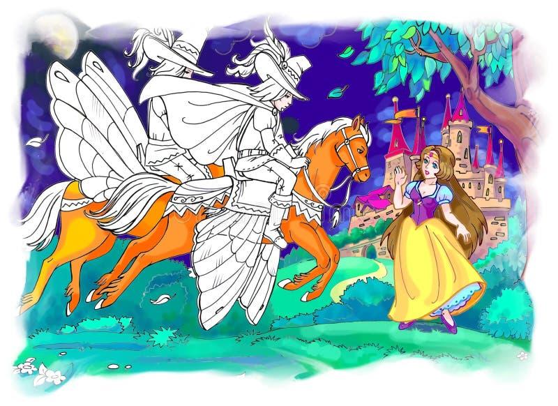Fantasi sagaplats stock illustrationer