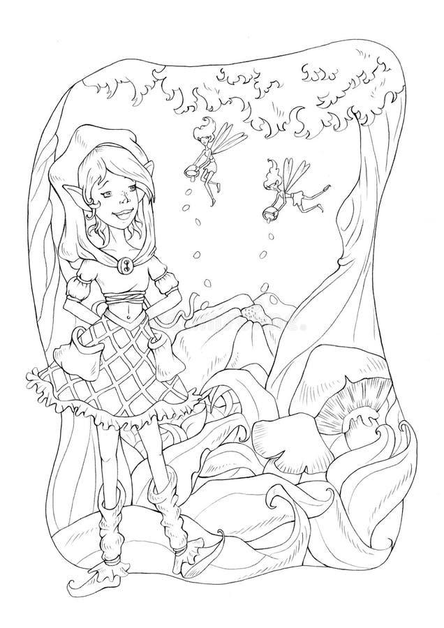 Download Fantasia 3 ilustração stock. Ilustração de folhas, madeira - 12805828