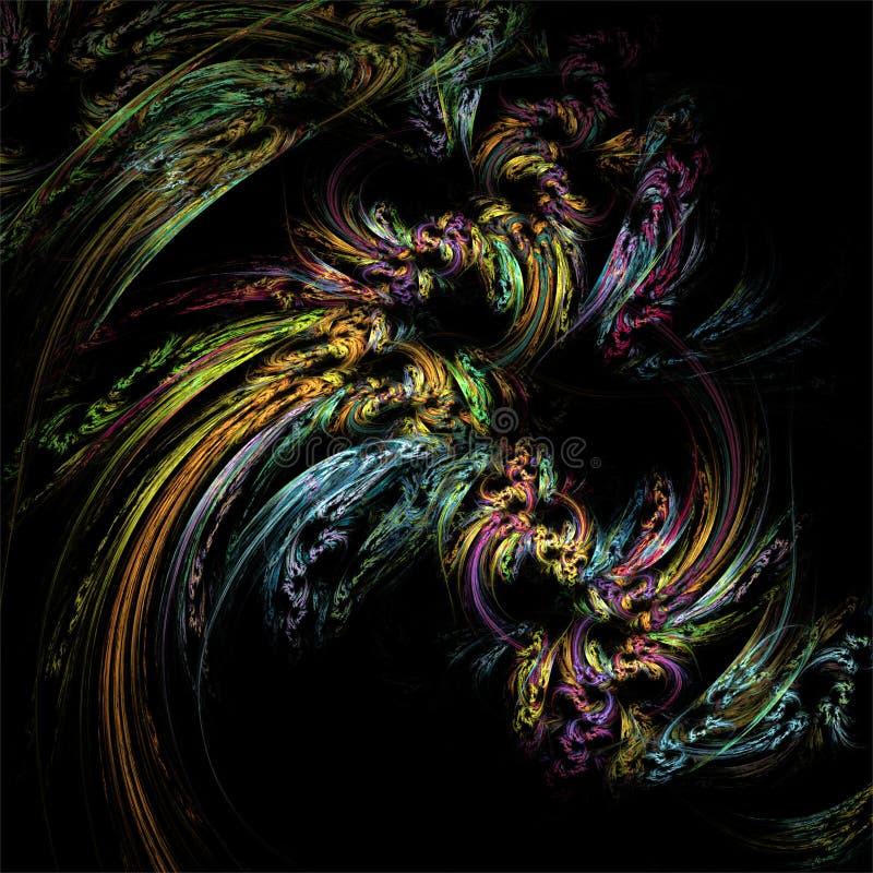 Fantasia abstrata da estrutura da cor da arte do fractal ilustração stock