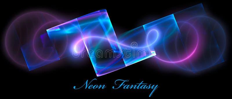 Fantasia al neon illustrazione di stock