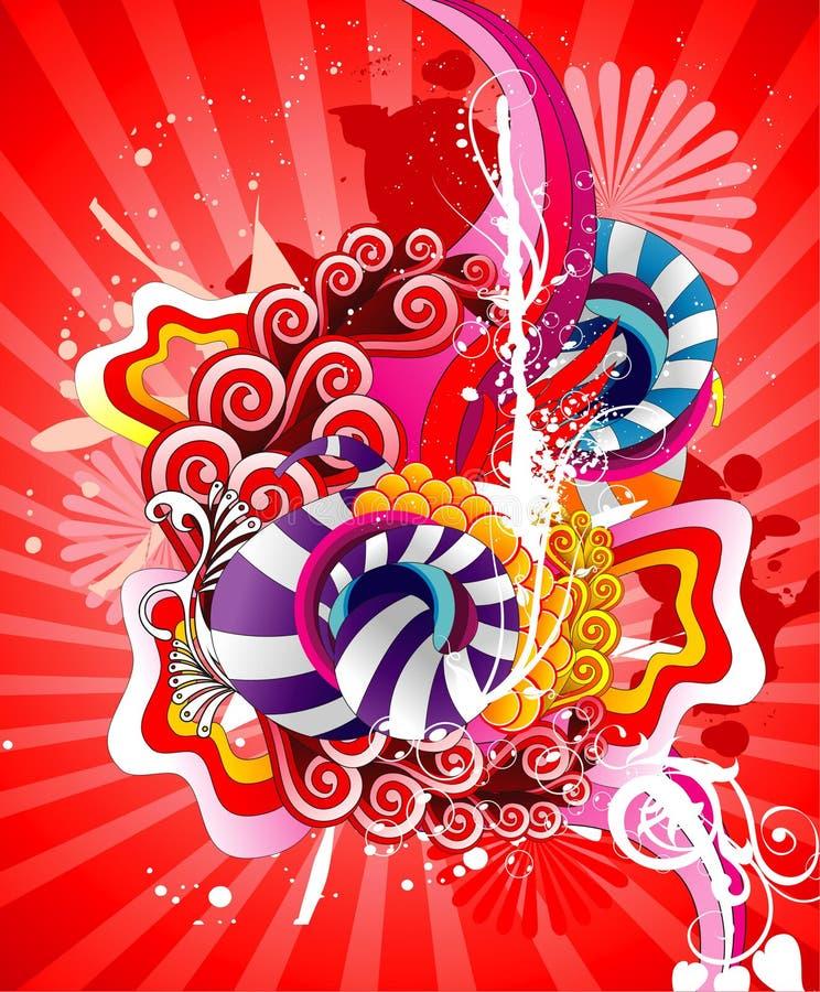 Fantasia astratta di colore royalty illustrazione gratis