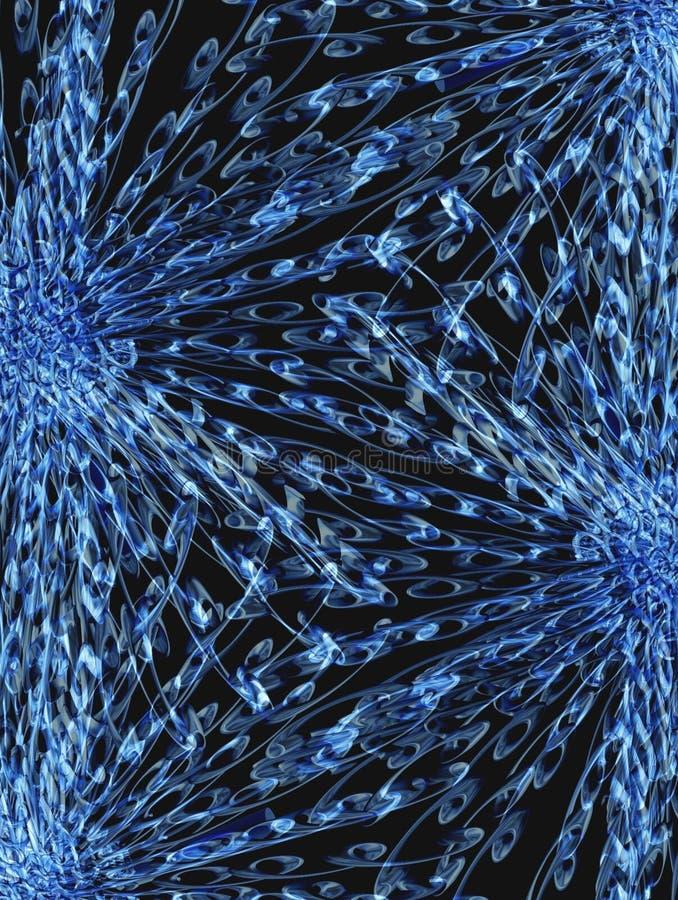 Fantasia azul 6 ilustração royalty free