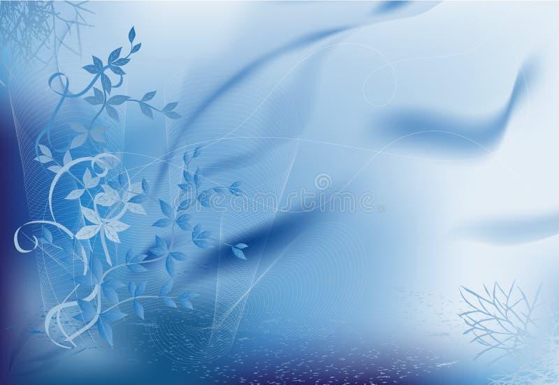 Fantasia azul ilustração do vetor