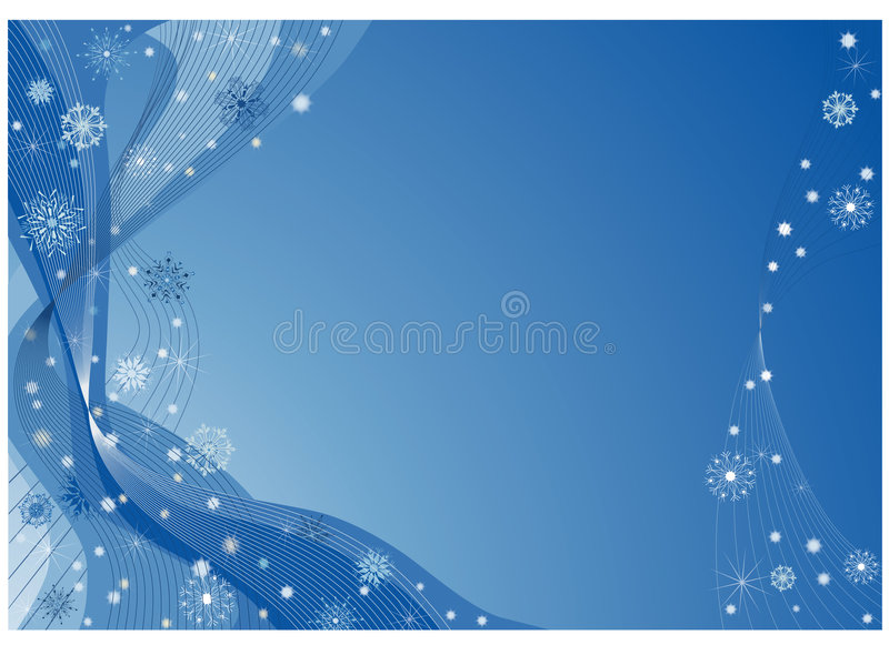 Fantasia blu di natale illustrazione vettoriale