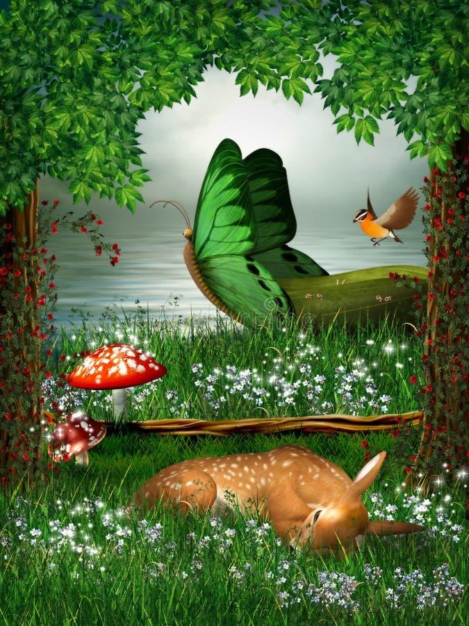 Fantasia da floresta ilustração do vetor
