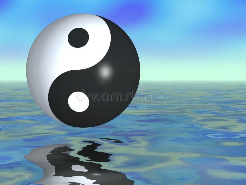 Fantasia de Yin Yang ilustração do vetor