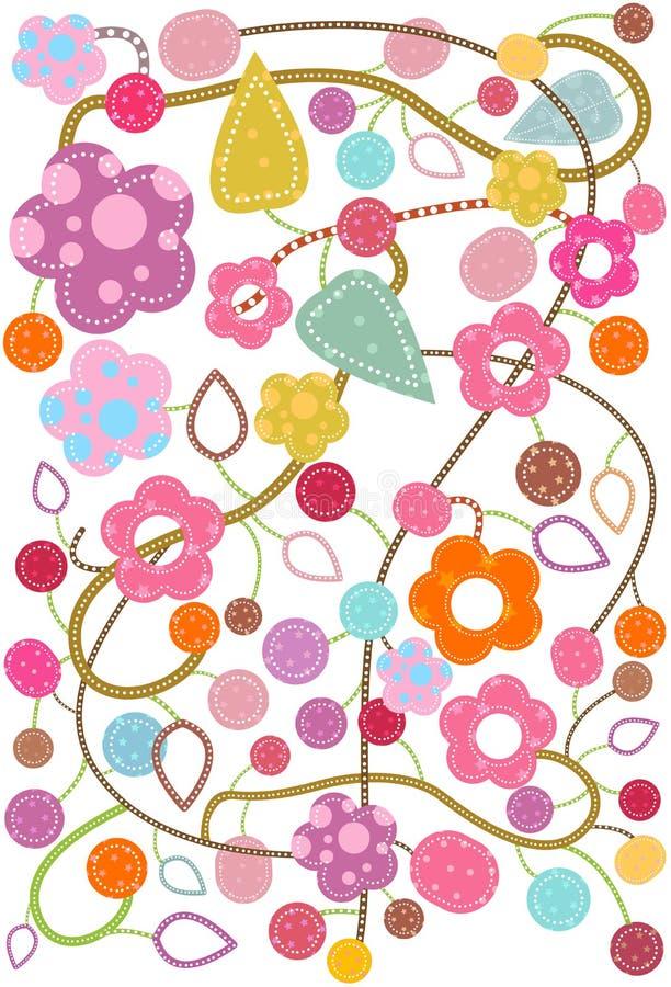 Fantasia del fiore illustrazione vettoriale