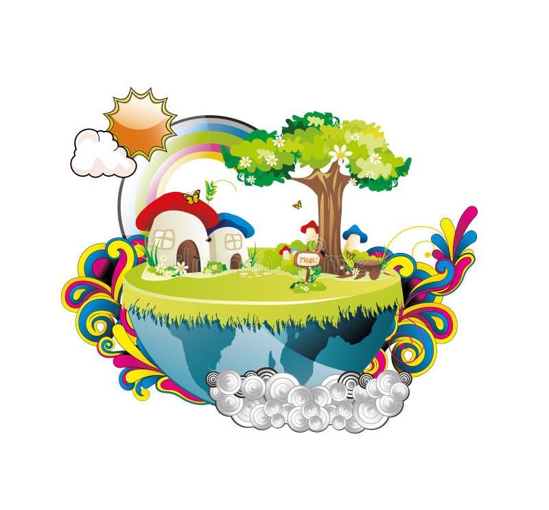 Fantasia del pianeta di paesaggio   royalty illustrazione gratis