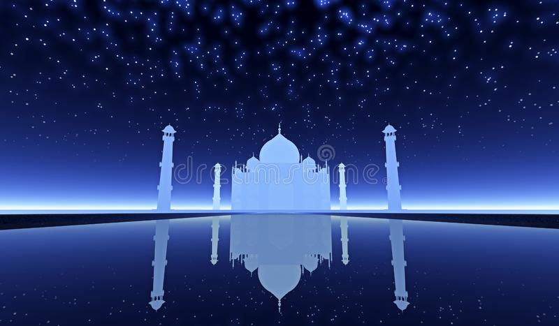 Fantasia di Taj Mahal fotografia stock