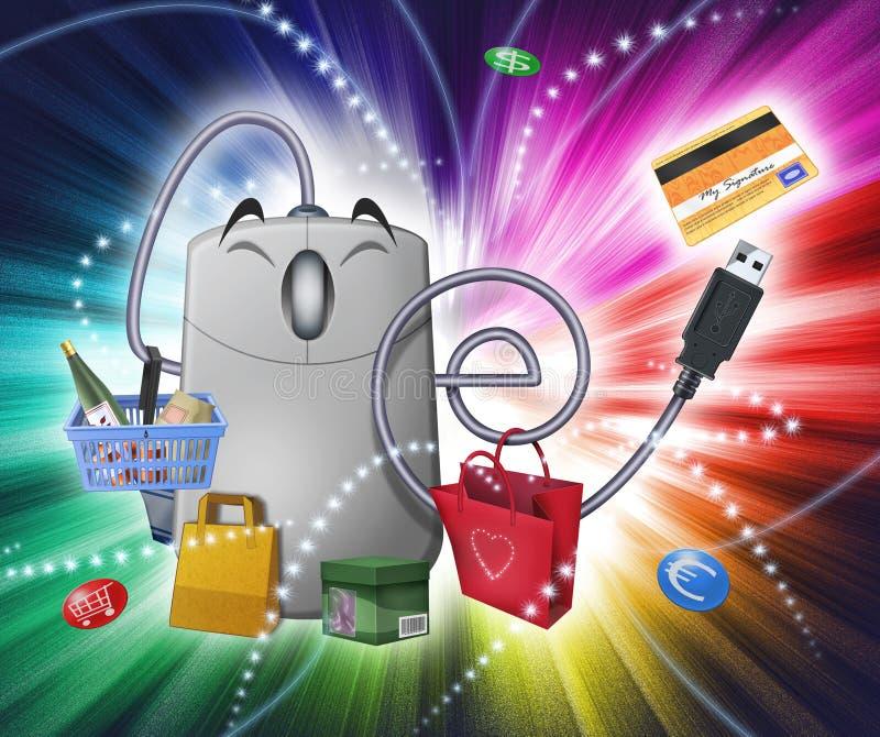 Fantasia do comércio electrónico ilustração royalty free