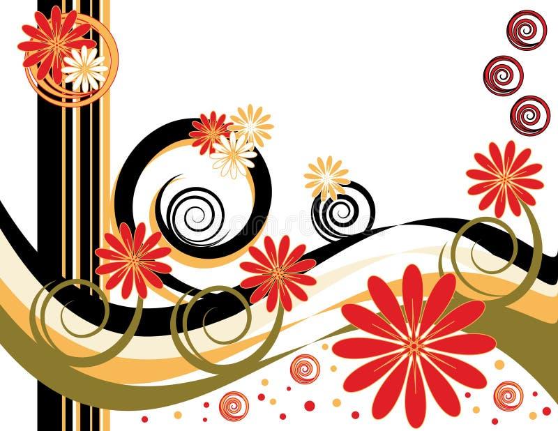 Fantasia espiral da flor ilustração royalty free