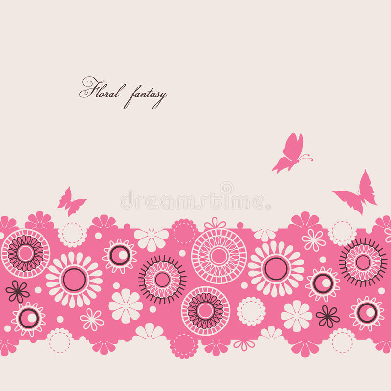 Fantasia floral ilustração royalty free