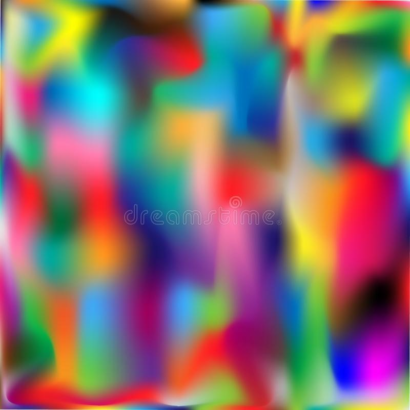 Fantasia luminosa della pioggia dell'arcobaleno immagini stock libere da diritti