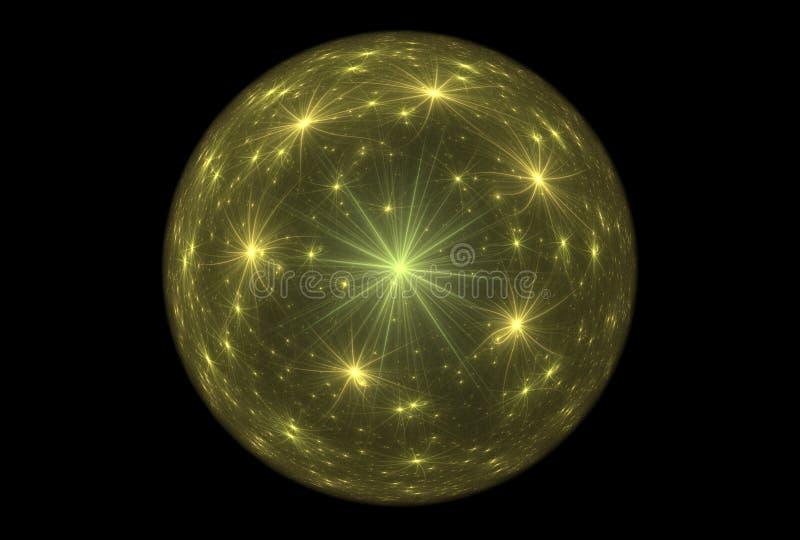 Fantasia mágica da bola do Fractal ilustração royalty free