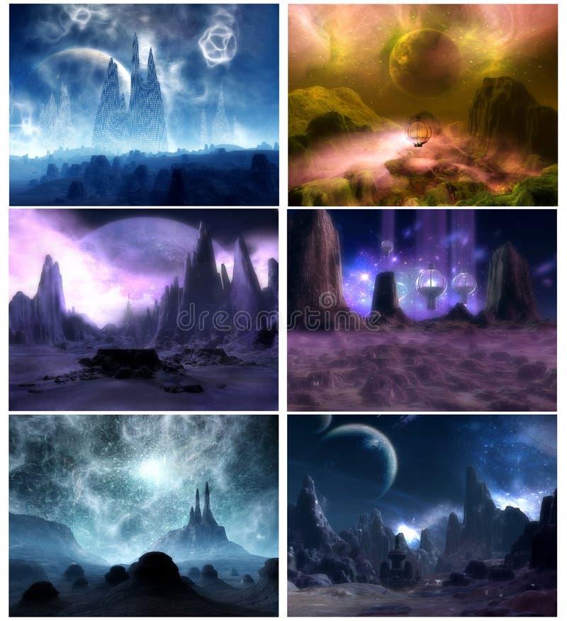 Fantasia planetária ilustração stock