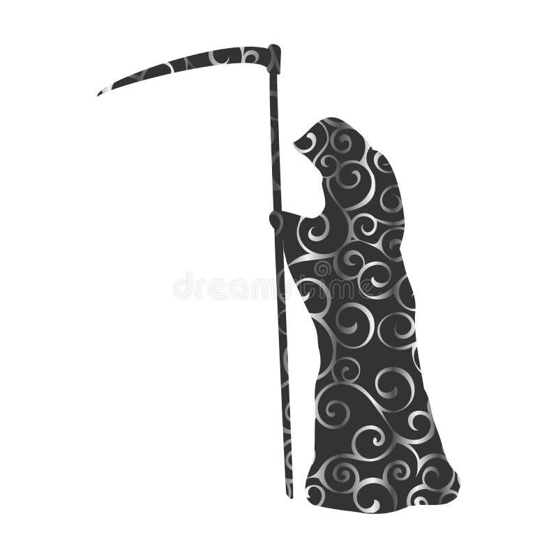 Fantasia spaventosa del mostro della siluetta del modello di morte royalty illustrazione gratis