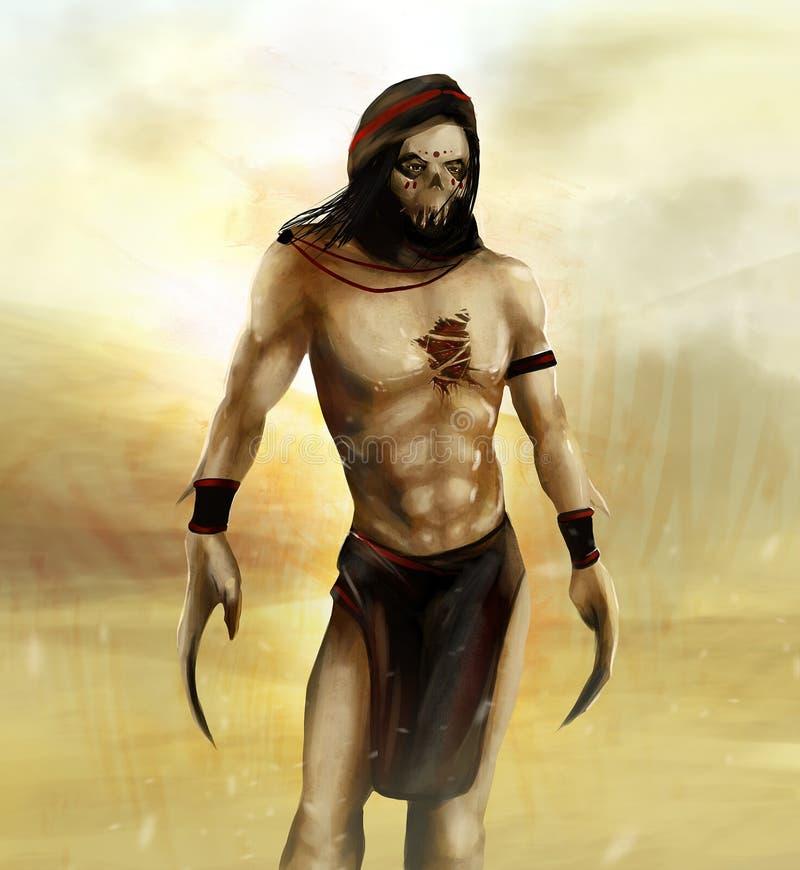 Fantasie Arabische strijder vector illustratie