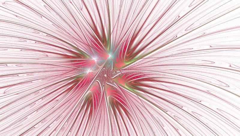 Fantasie artistieke bloem met verlichtingseffect stock illustratie