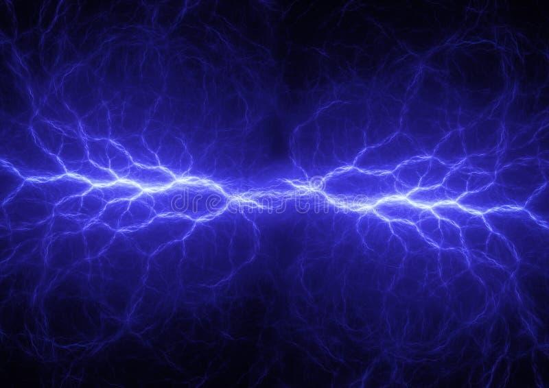 Fantasie blauwe bliksem vector illustratie