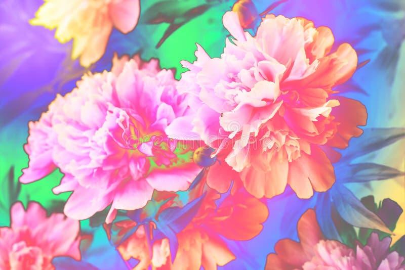 Fantasie bloemenachtergrond stock foto's