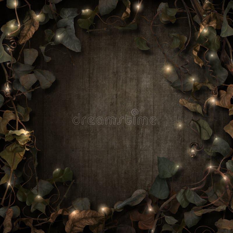 Fantasie fairytale grens met fonkelingen stock illustratie