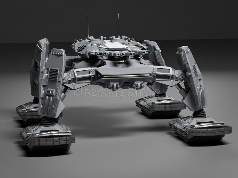 Fantasie-futuristischer gehender Behälter Ursprüngliche Idee und Modellieren authentisch vektor abbildung