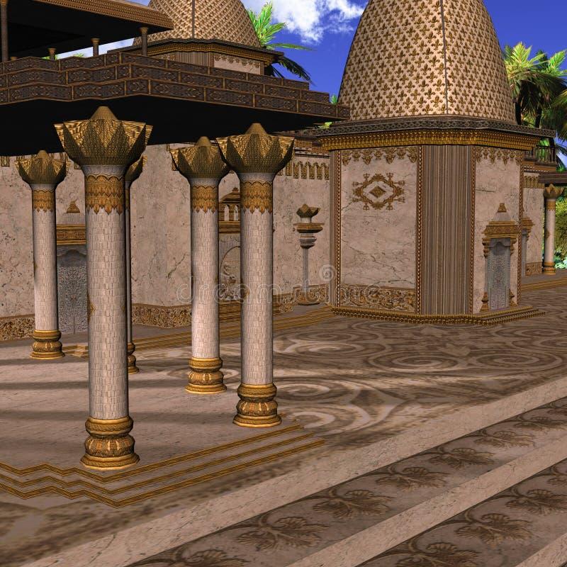 Fantasie-Inder-Tempel stock abbildung