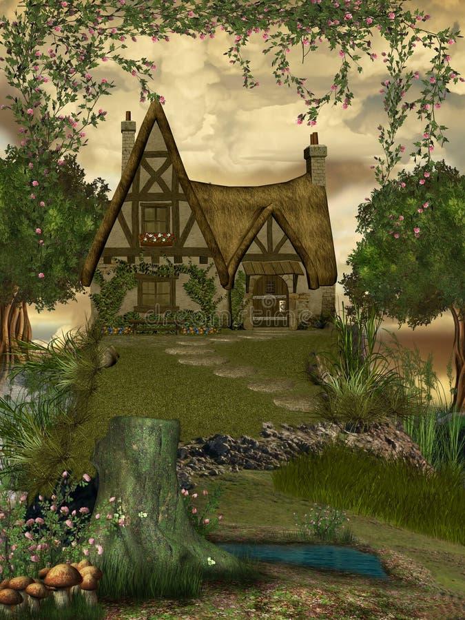 Fantasie-Landschaft stock abbildung