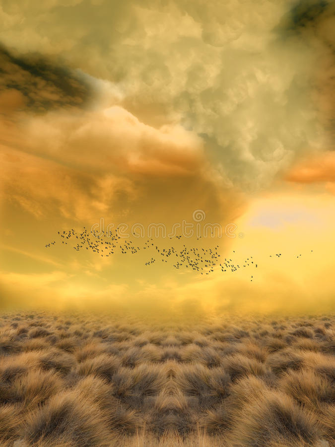 Fantasie-Landschaft stockfoto