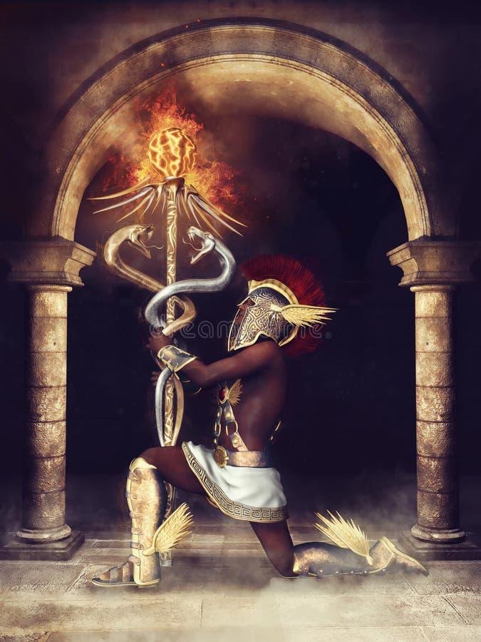 Fantasie oude priester royalty-vrije illustratie