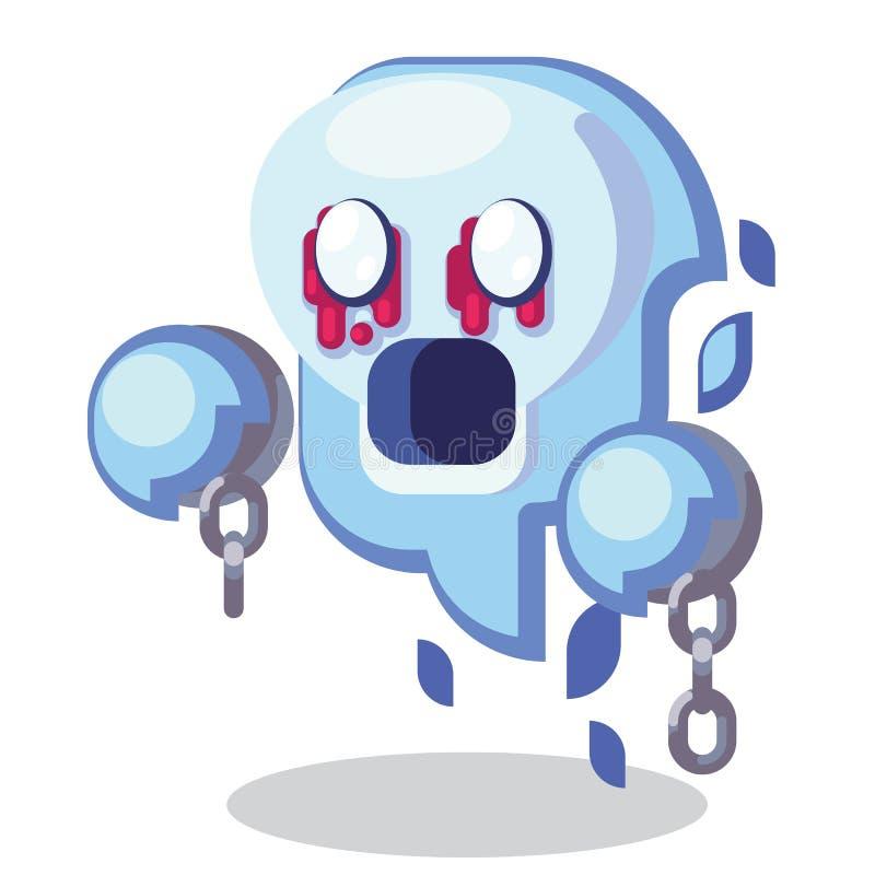 Fantasie RPG-Spiel-Charaktermonster und -helden Ikonen-Illustration Feindliche Undead, Todesfee, Geist, Geist, Erscheinung mit stock abbildung