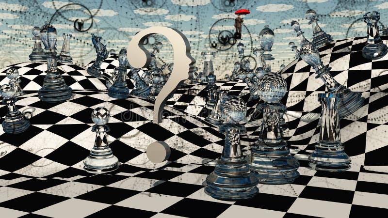 Fantasie-Schach lizenzfreie abbildung