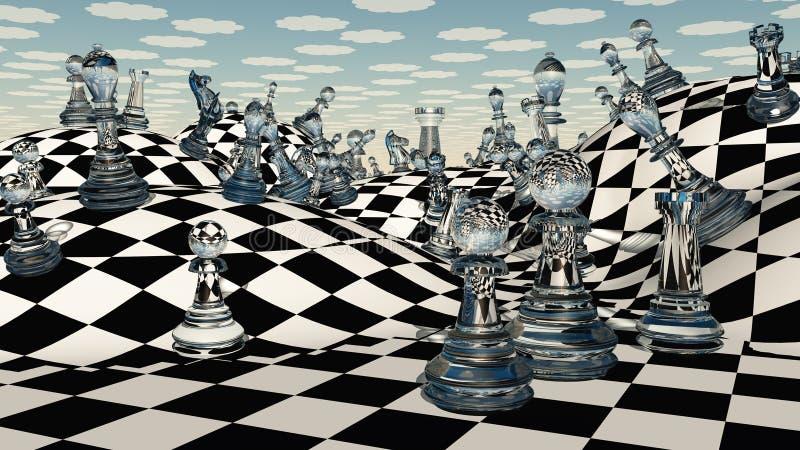 Fantasie-Schach stock abbildung