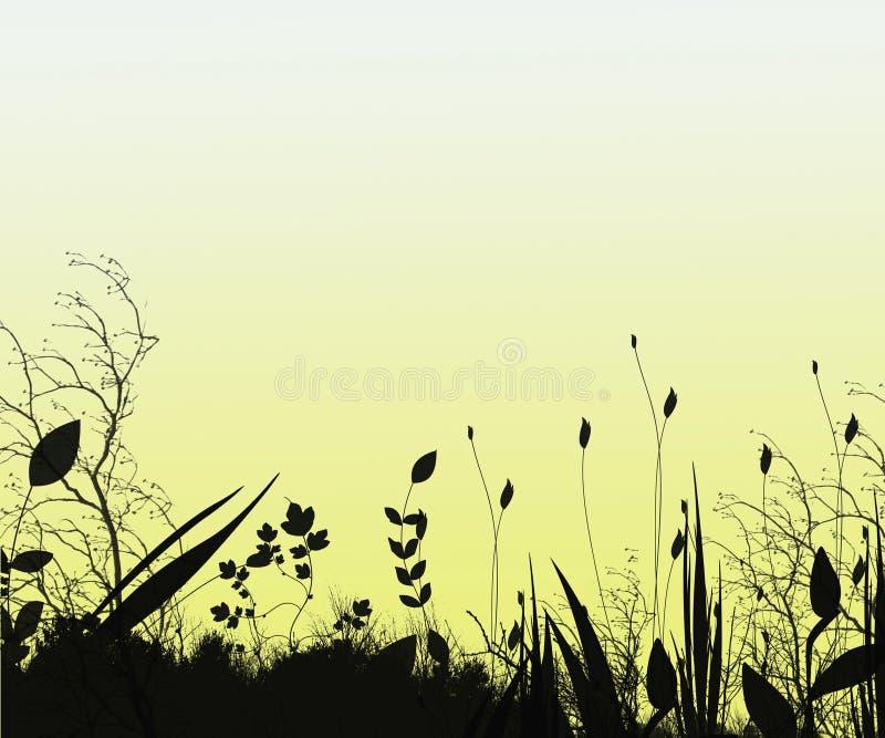 Fantasie-Schattenbild-Hintergrund lizenzfreie abbildung