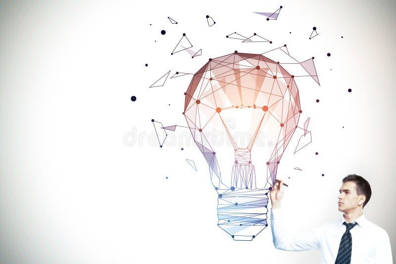 Fantasie-, Technologie- und Ideenkonzept stock abbildung