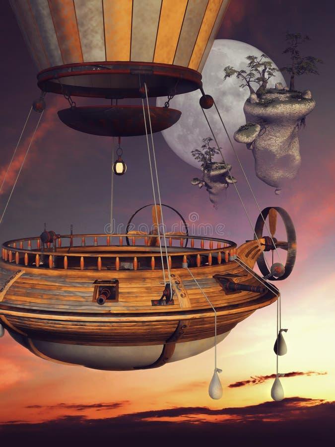Fantasieballon in der Luft vektor abbildung