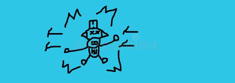 Download Fantasierijke kidtrekken stock illustratie. Illustratie bestaande uit menselijk - 107705821