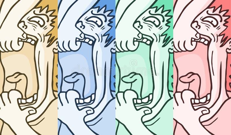 Fantasierijke kleurengezichten vector illustratie
