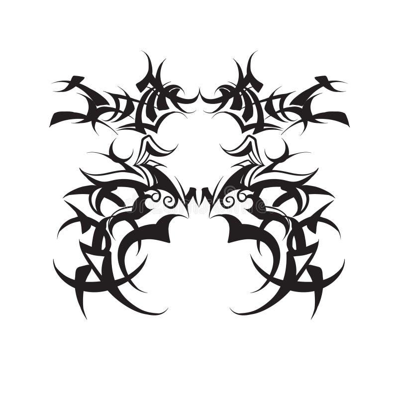 Fantasieschablonen krönen Aquarell-Illustrationsvektor der Tiara symmetrischen stock abbildung