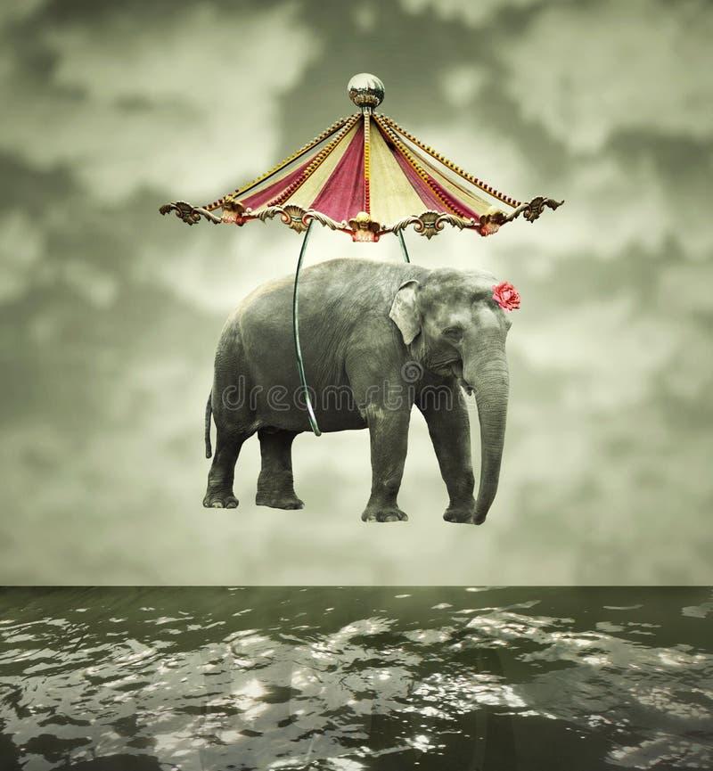 Fantasievolle olifant vector illustratie