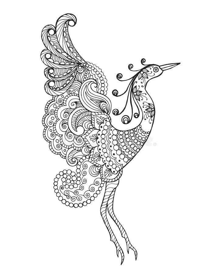 Fantasifågel vektor illustrationer