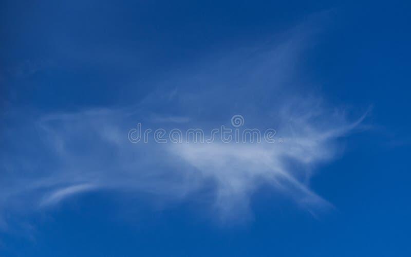 Fantasifantasibegrepp: Körande Unicorn Shape White Cloud på bakgrund för blå himmel fotografering för bildbyråer