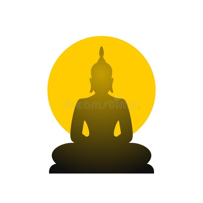 Fantasirikt buddha symbol vektor illustrationer